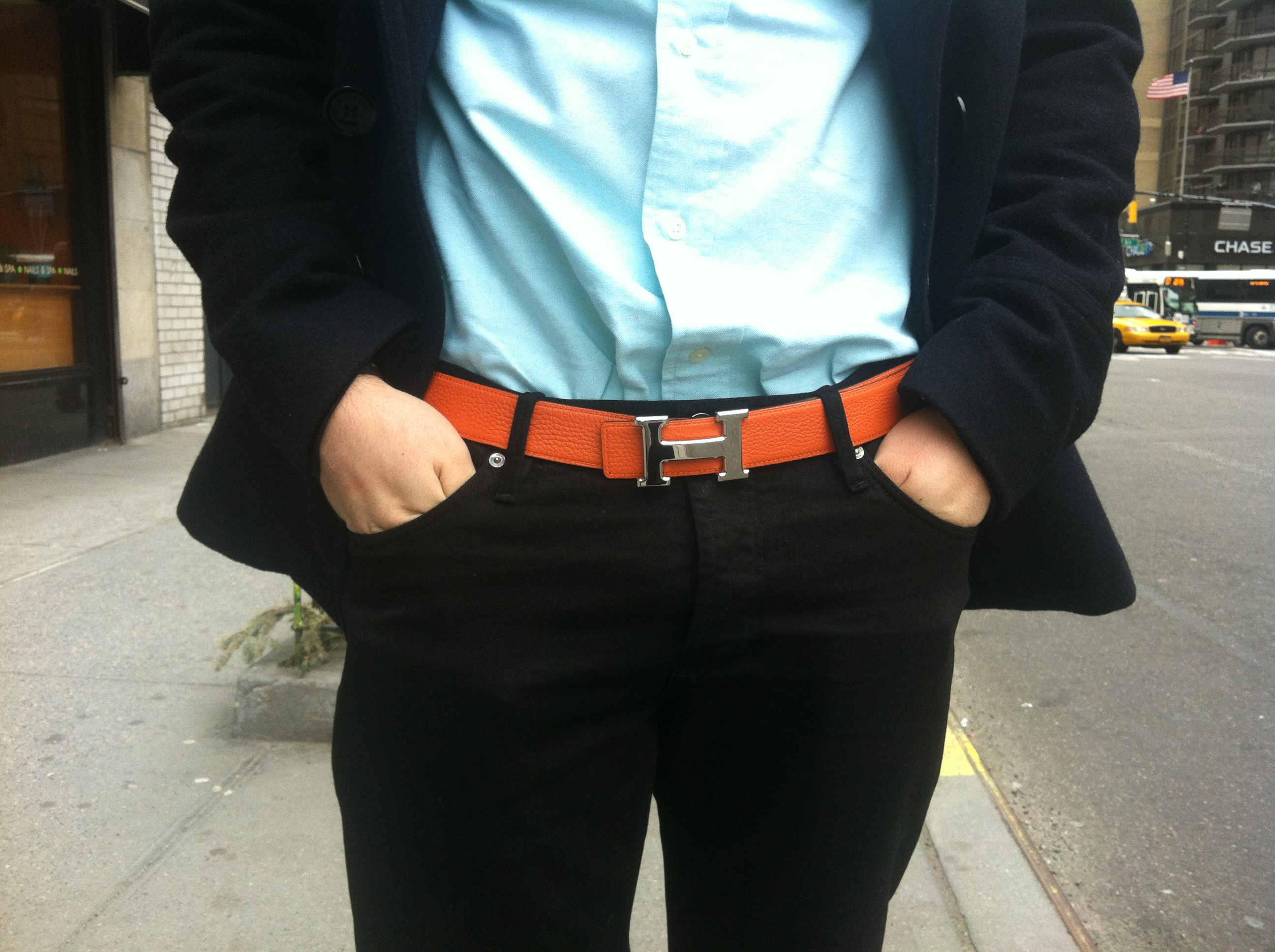 Wearing Hermes Belt Hermes orange belt Wearing Hermes Belt